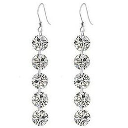 5 Crystal Top Quality 8mm Zircon Earring