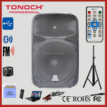10 inch Outdoor PA active Speaker with High power Class-AB amplifier /LED Mp3 Player /bluetooth/Remote Control (THR15)