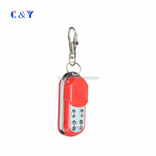 433mhz Ev1527 Ask Metal Wireless Learning Code 4 Keys Remote Control (red + Silver)