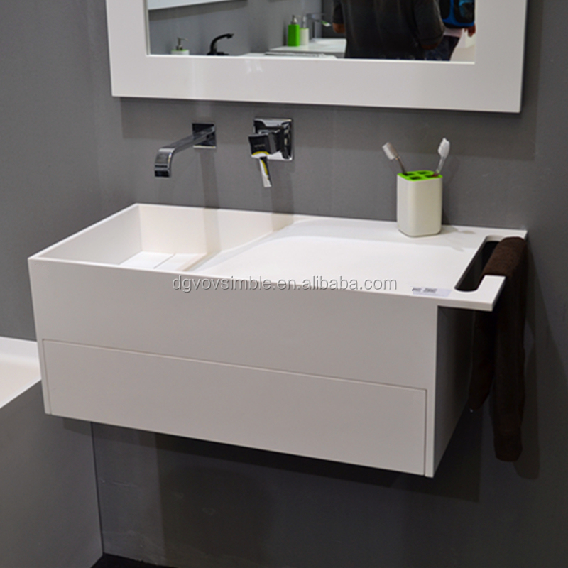 Made in China cheap white square undercount luxury bathroom design basin sink