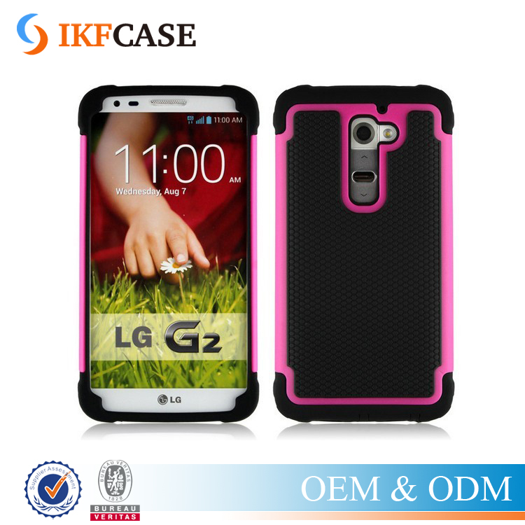 Heavy Duty Armor Cover Drop Resistance Case For LG G2 D801 D802 F320 LS980 Shock Absorbing Cover Hard Silicone Case