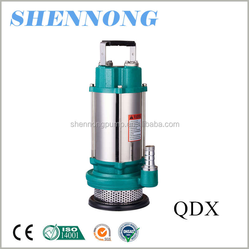 Standard or Nonstandard 2hp stainless steel casing QDX low pressure irrigation submersible clean water pump