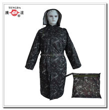 wholesale camouflage pvc rain poncho with sleeves