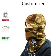 Custom fleece balaclava ski mask hat