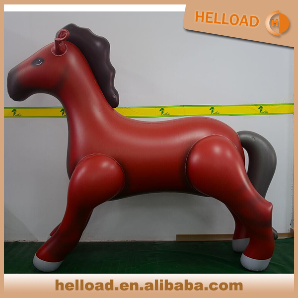 custom made 1.8m vivid PVC material inflatable horse animal model for sale