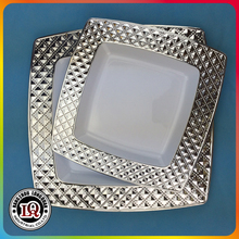 Silver Coated Customized Plastic Plate