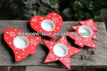 Christmas candle holder decorations/star/tree/love/bell