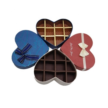 Custom fancy hot foil chocolate packaging boxes with different bowknot