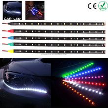 30cm 7 Colors 18 LED Daytime Running Led Strip DC 12V 5050 SMD Waterproof Auto Car DRL COB Driving Fog lamp Flexible light
