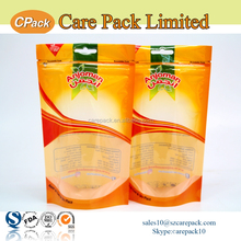 Custom printed plastic ziplock pouch for dry food in UAE