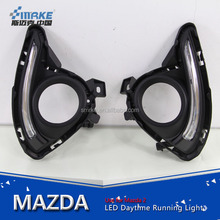 Car styling for MAZDA 2 DEMIO 2015-2016 cob led daytime running light, led drl for mazda 2 drl fog lamp