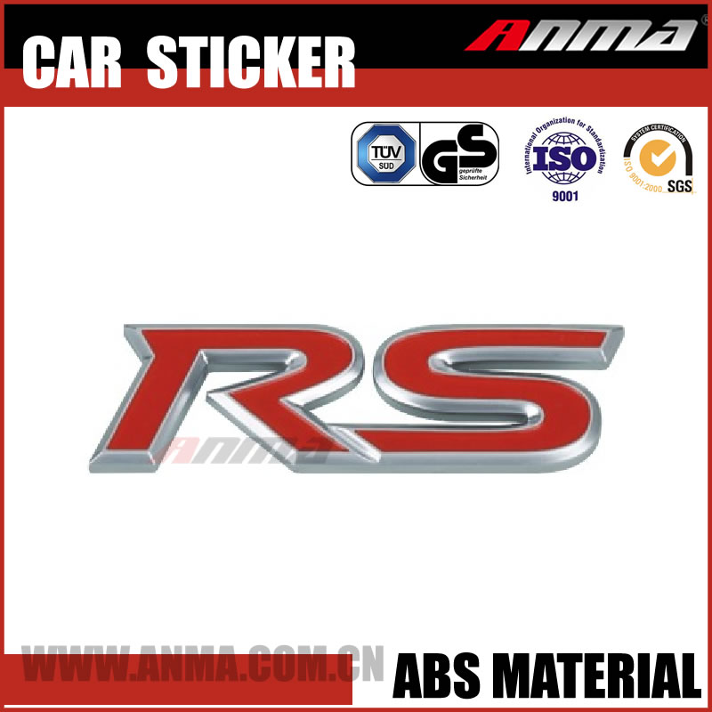 new design Logo ABS colorful vinyl 3D Waterroof Car body/vinyl sticker AM325RC1014