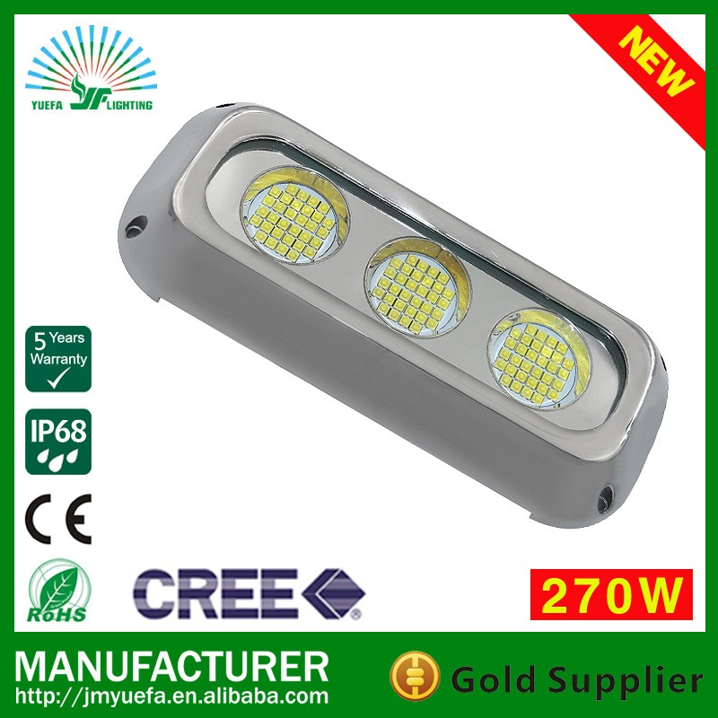 270W yacht submarine underwater boat LED light/white blue color led marine lights/submarine waterproof ip68 ss316 led lighting