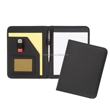 A5 leather file folder with notepad