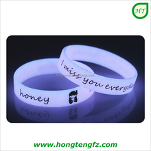 Glow in the dark silicone bracelet/ charming silicone chain bracelet/ fashionable silicon bangles