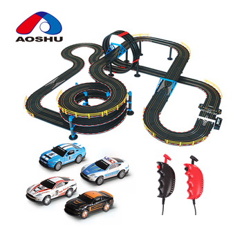 DIY race track wire control 1:43 scale hobbie electric race track toy with good price