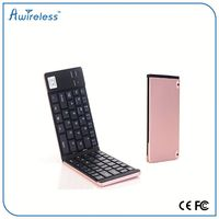 Ultra Slim Multimedia Aluminum Wireless Bluetooth folding Keyboard For Android PC