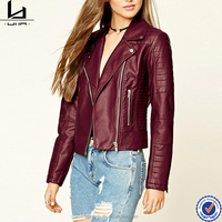 Cool women wear asymmetrical zippered front faux leather jackets made in india