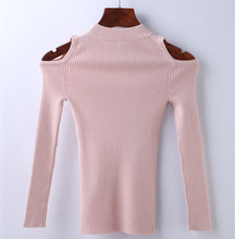 Off-shoulder Knitted Pullover Kids Girl Autumn Winter Sweaters