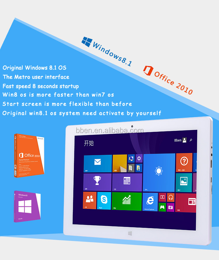 free sample dual-core windows tablet pc with tablet 10.1 inch ssd 64g