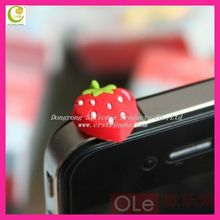 2014 Fashion Silicon Fruit Shaped Novelty Phone Dustproof Plug Earphone Jack Plug With Plastic Stopple Plug Cell Phone