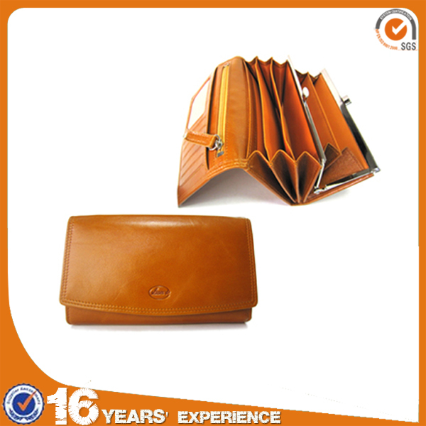 Wholesale Magazine Leather Ladies Clutch Purse