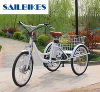 Differential three-wheeled electric tricycle for sale
