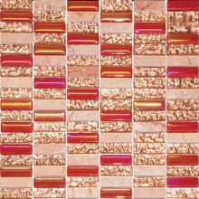 buildings materials 3d wallpaper red glass mosaic tile