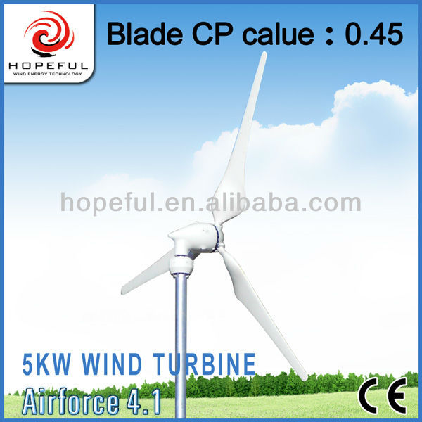 5 KW wind turbine generator for home use