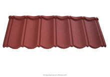 Building facade aluminum roof tiles/kerala metal roof tile/stone coated steel roofing sheet