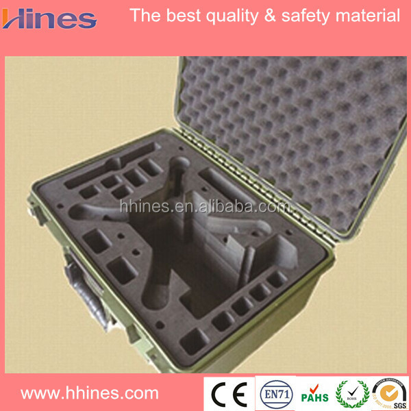 strong frame hard shell aluminum packaging case with white eva foam lining inside for tooth medical device