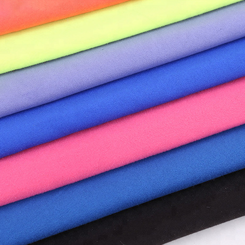 80% <strong>polyester</strong> 20%polyamide microfiber cloth double faced fabric