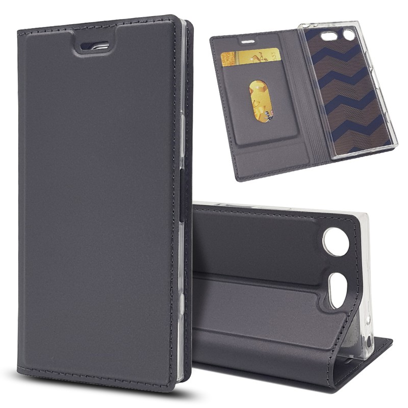 Magnetic Leather Flip Cover Case For Sony XZ1 Compact Phone Case For Sony Xperia XZ1 Compact