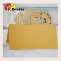 various color party supply laser cut wedding table place card