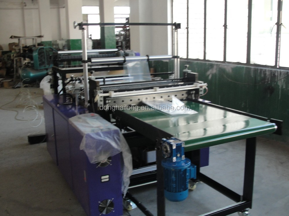 newest hot seal and cool cut bottom sealing bag making machine