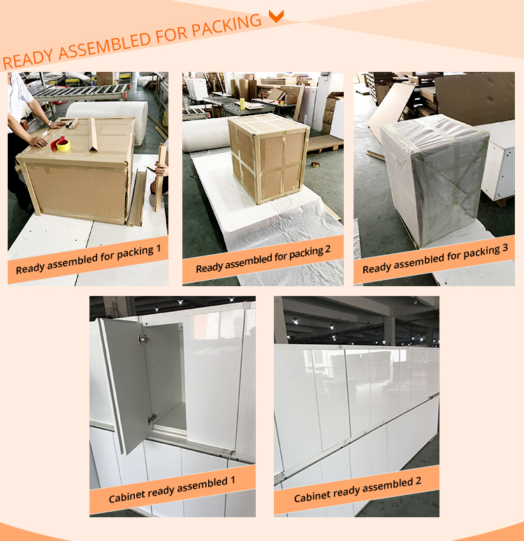 Professional manufacturer individual whole kitchen cabinet set