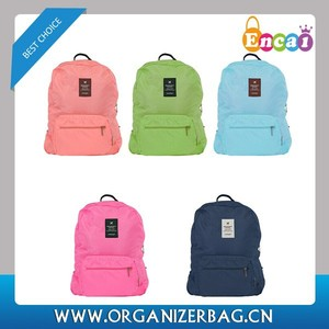 Encai Travel Foldable Leisure Backpack For Teenager Durable Packsack Colourful Knapsack Wholesale