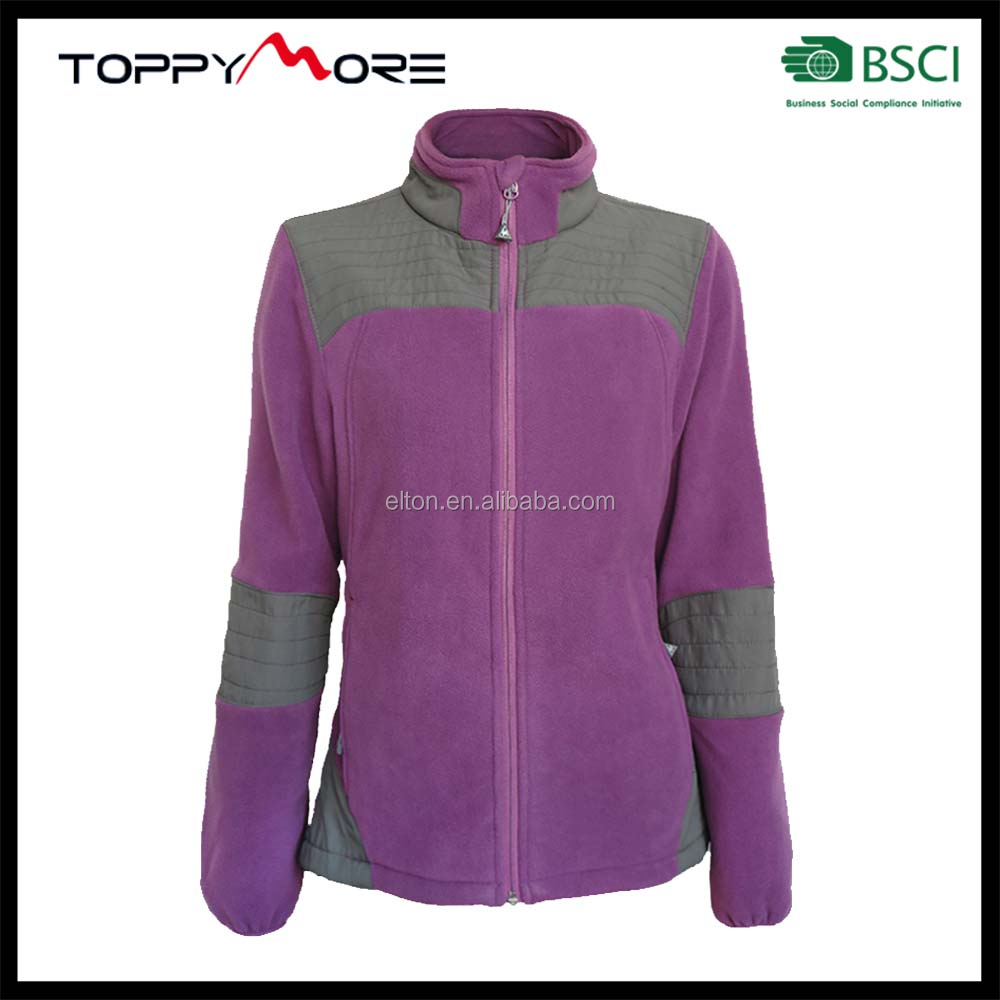 BSCI Fashion Outdoor Jacket 100% Polyester Woman Winter Polar Fleece Jacket