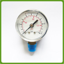 bar black steel bourdon tube pressure gauge