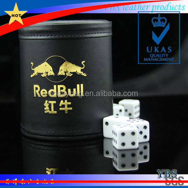 custom leather dice cups PP material dice cup