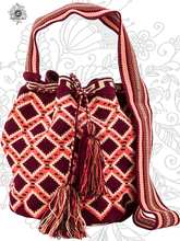 Genuine Luxury Wayuu Mochila Bag Single Thread by Jardin del Cielo (Desert)