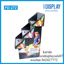 supermarket fruit display cardboard material banana display rack for sale