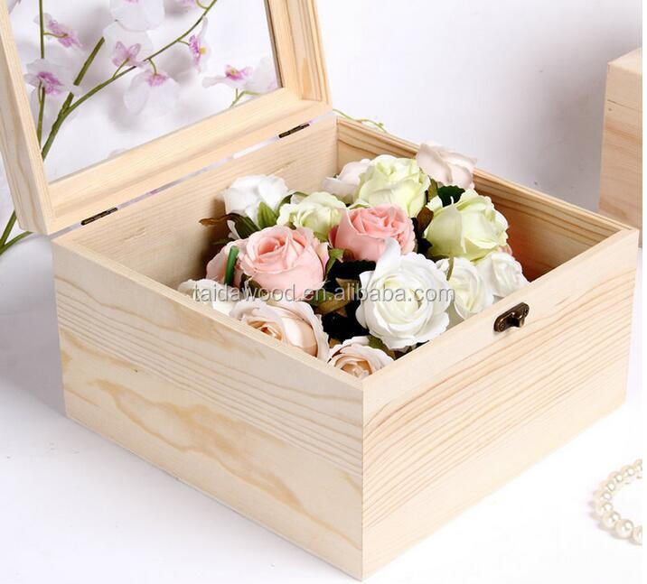 unfinished samll wooden box for flowers