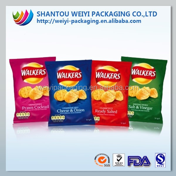 Laminated Mat material plastic heat resistant packaging bag for potato chips