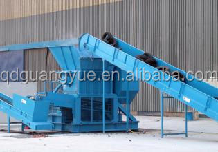 Used tire recycling rubber powder making machine / waste tyre shredder for sale