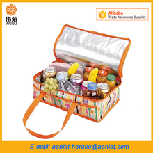 Big capacity Polyester Totes lunch insulated cooler bag fabric zero degrees inner cool disposable ice cooler bag