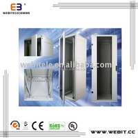 telecom rack+ floor standing+doors with hinged+19 inches network communication rack