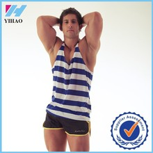Trade Assurance Yihao 2015 Mens Sports Gym Wear Clothing Striped Cotton Stringer Vest Tank Top