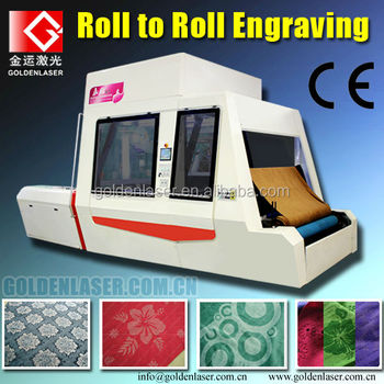 Roll to Roll Garment Fabric Laser Marking with Conveyor Table