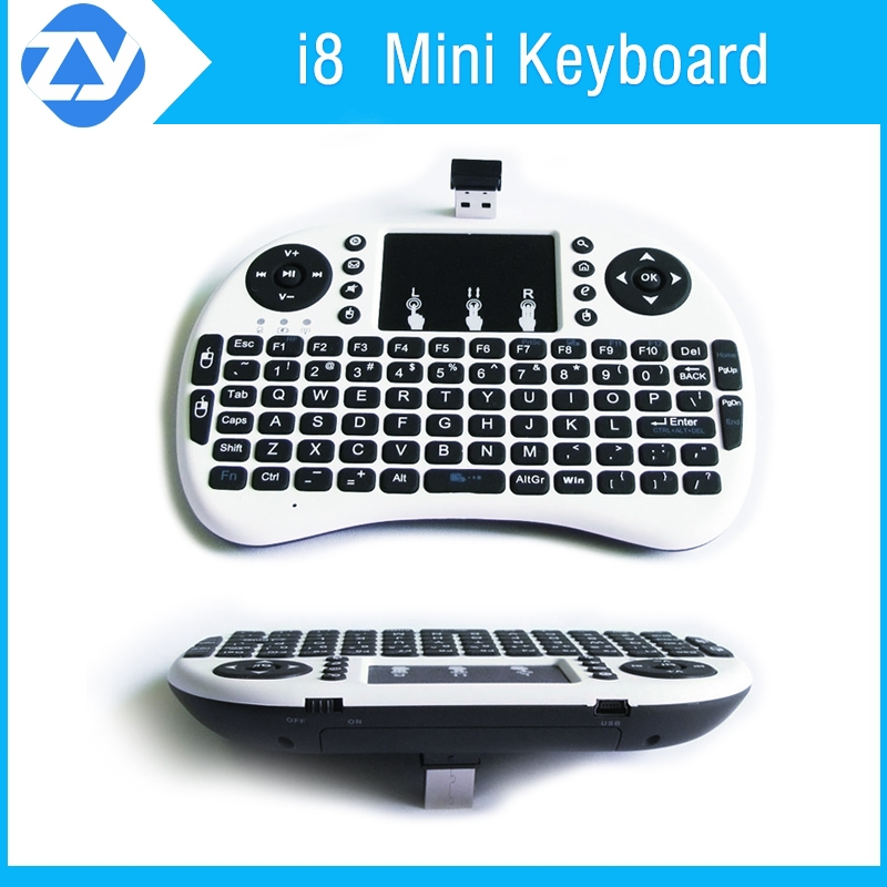 High Quality Original Mini Keyboard I8 Air Mouse Touchpad Bluetooth KeyBoard in Stock